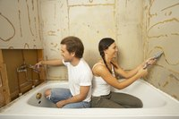 Seal your bathtub to prevent moisture damage.