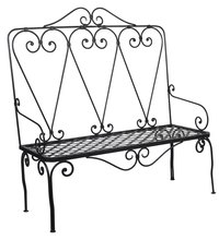 Repaint metal furniture to restore its appearance.