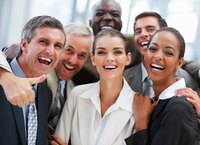 Image of happy employees.