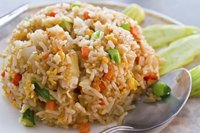 Make only as many servings as you need, because fried rice doesn't reheat well.