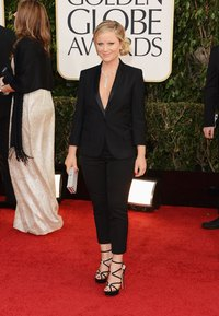 Amy Poehler attends the 70th Annual Golden Globe Awards in tuxedo pants.