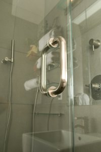 Frameless shower doors are sleek and simple.