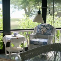 Sunrooms usually have a wall of windows that sometimes extends to the ceiling.