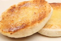 A toasted English muffin.