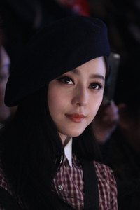 Chinese actress Fan Bingbing looks classy in a beret at Mercedes-Benz Fashion Week China in Beijing in 2013.