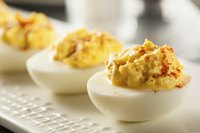 Make a few deviled eggs if you cooked more eggs than you needed.