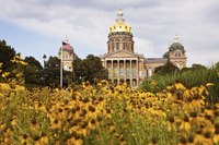 Iowa has no state law requiring employers to pay time and a half for hours over 40.