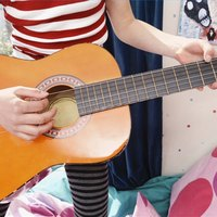 how to tune an acoustic guitar to open a ehow. Black Bedroom Furniture Sets. Home Design Ideas