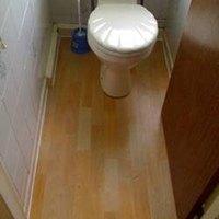 How To Lay Laminate Flooring Around A Toilet Ehow