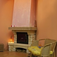 How to reface a brick fireplace with stone ehow - How to reface a brick fireplace ...