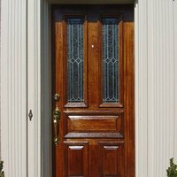 How to refinish a wood door exterior