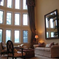 Window treatments for high ceilings ehow High ceiling window treatments
