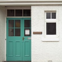 How To Put A Window In A Solid Wood Door Ehow