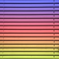Spray Paint Vinyl Mini Blinds