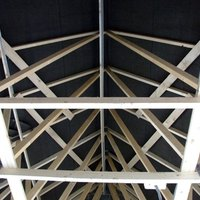How to alter existing roof trusses for an attic room ehow for Prefab gambrel roof trusses