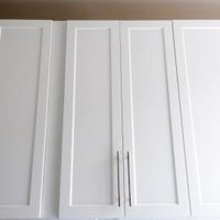 how to refinish cabinet doors with plastic veneer ehow. Black Bedroom Furniture Sets. Home Design Ideas