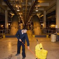 How to mop concrete floors ehow for Best mop for concrete floors