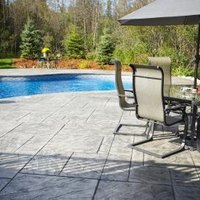 stamped concrete pros and cons ehow. Black Bedroom Furniture Sets. Home Design Ideas