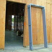 How to install hollow metal door frames ehow - How to make a door jamb for an exterior door ...