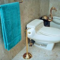how much space is needed for a toilet a bidet ehow. Black Bedroom Furniture Sets. Home Design Ideas