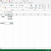 How to do percentages in Excel