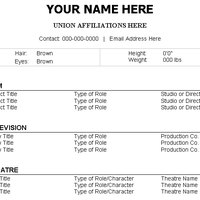 Make a acting resume