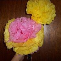 how to make giant paper flower stems freestanding