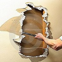 how to cut a hole in sheetrock