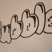 letters bubble draw step ehow