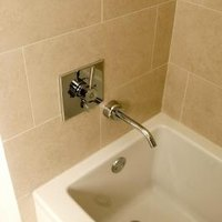 How To Grout Caulk Bathroom Tile Around Tub EHow