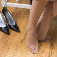 Pair Of Pantyhose With Dried 7