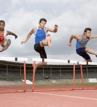 The 300-meter hurdles race is a prominent part of most track and field competitions. Most 300-meter hurdlers run both shorter and longer events. ...