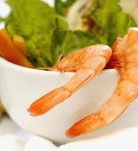 Shrimp make a low-fat, high-protein meal, but you'll need to keep a close eye on the amount of sodium you'll get from a typical serving. ...