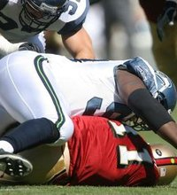 It's hard to guess how seriously 49ers' quarterback Alex Smith might have been injured by Seahawks' Rocky Bernard's ...