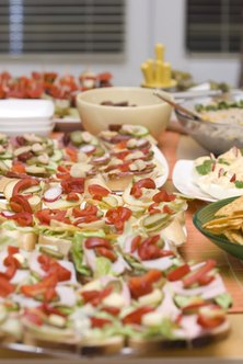 Food catering businesses can cater to small private parties or huge corporate events.