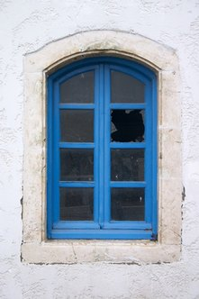An FHA repair escrow can be used for damaged windows.