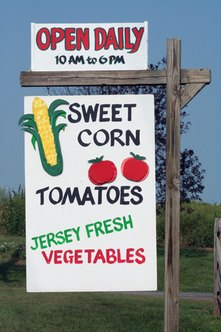 A roadside produce stand is the product of a farmer's vertical integration.