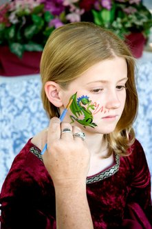 Start a face-painting business, and target parents and schools.