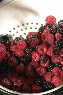 Blackberries and raspberries are good sources of zinc.