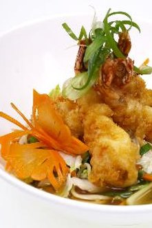 Tempura and most other breadings are high in carbohydrates.