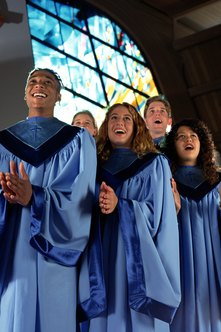Gospel singers spread powerful Christian messages.