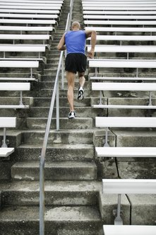 Running up stairs can improve your speed.
