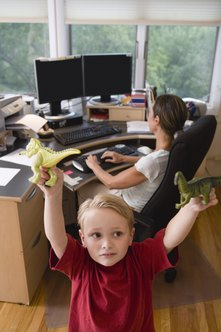 Sole proprietors can work from home but must find the right work-life balance.