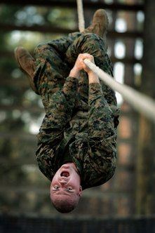 Basic training can put you on your head.