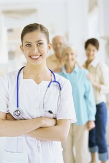 White uniforms are traditional for nurses and may help promote a professional image.