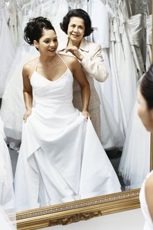 The atmosphere inside a bridal shop should be inviting to customers.