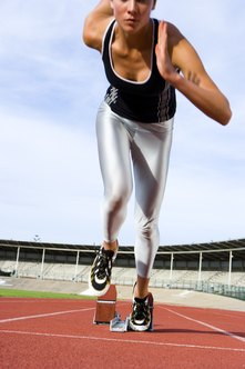 Sprinters can gain muscle mass in their upper and lower bodies.