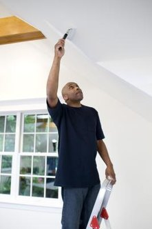 A coat of paint fixes most minor water stains on drywall.