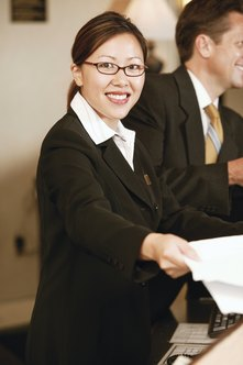 An executive assistant must be ready to help the executive for whom she works at a moment's notice.