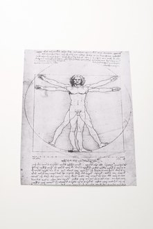 Leonardo da Vinci's Vitruvian Man is an example of the artist's spatial reasoning put to paper.